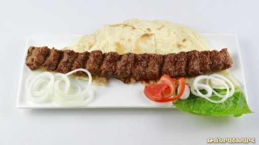 Kebab of mutton